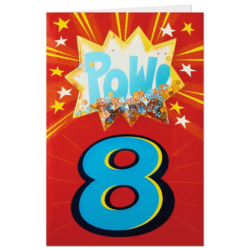 Pow 8th Birthday Card
