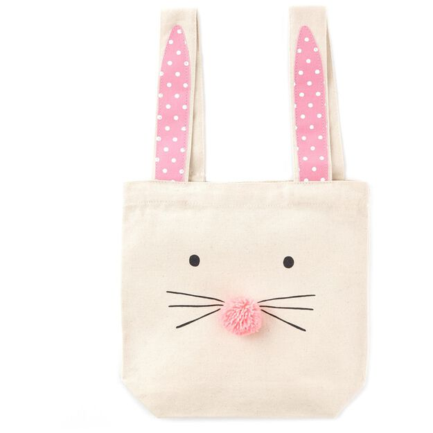 Bunny face with ears canvas gift bag 105 gift bags hallmark bunny face with ears canvas gift bag negle Choice Image
