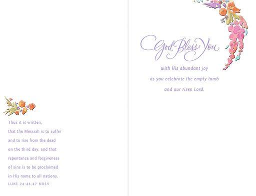 God Bless You Religious Easter Card for Sister,