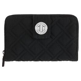 Vera Bradley Classic Black Turnlock Wallet, , large