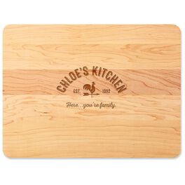 Home As Brand Personalized Wood Cutting Board, , large