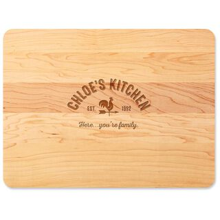 Home As Brand Personalized Wood Cutting Board,