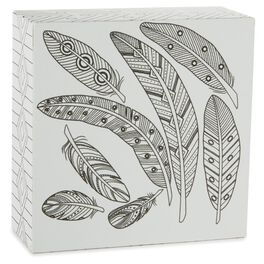Feathers 4x4 Coloring Plaque, , large