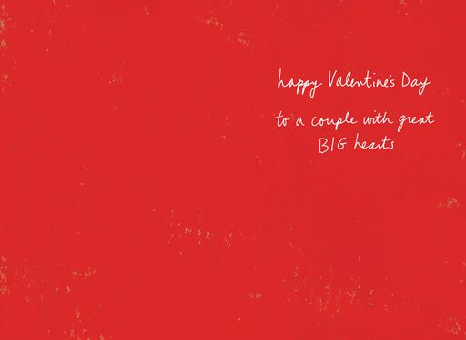 Heart Flowers Valentine's Day Card for Couple,