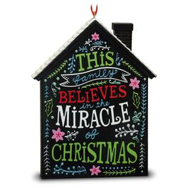 The Miracle of Christmas Holiday House Ornament, , large