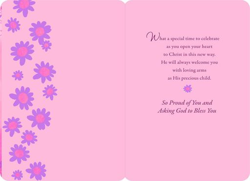 Special Girl First Communion Card,
