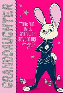 Disney Zootopia Judy Hopps Easter Card for Granddaughter,