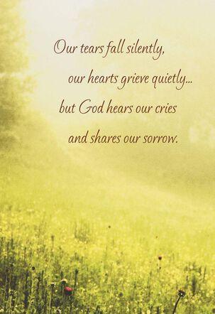 Sunny Meadow Religious Sympathy Card