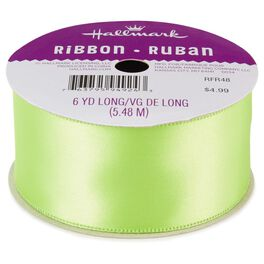 "Chartreuse 1.5"" Satin Ribbon, , large"