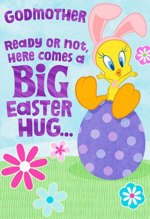 Hugs from Tweety Easter Card for Godmother
