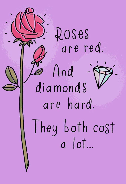 Diamonds Are Hard Poem Funny Birthday Card