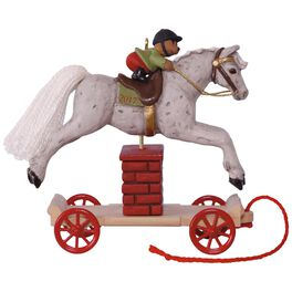 A Pony for Christmas Jumping Horse Ornament, , large