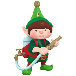 North Pole Tree Trimmers Tree Watering Elf Ornament, , large