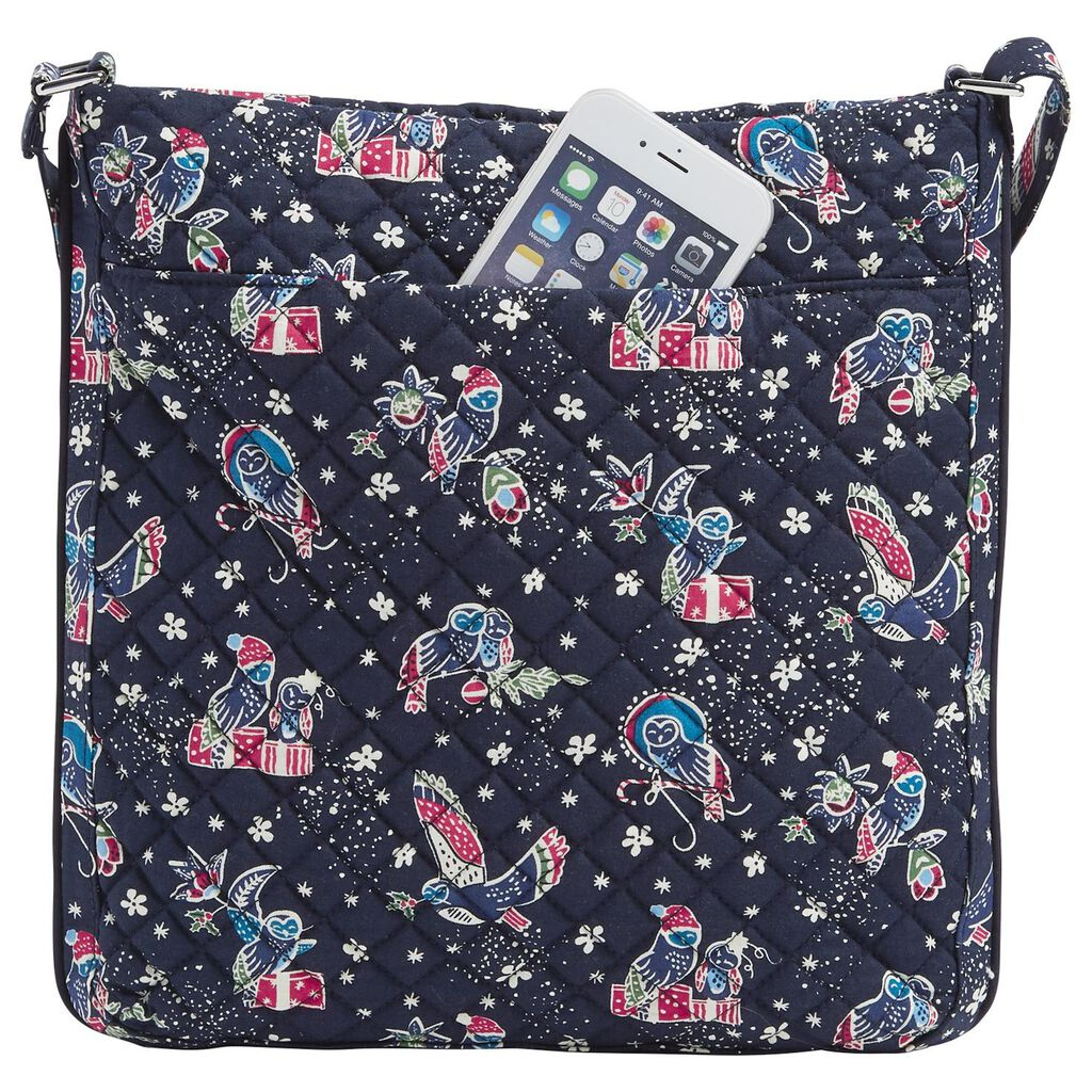 Vera Bradley Iconic Triple Zip Hipster Bag In Holiday Owls