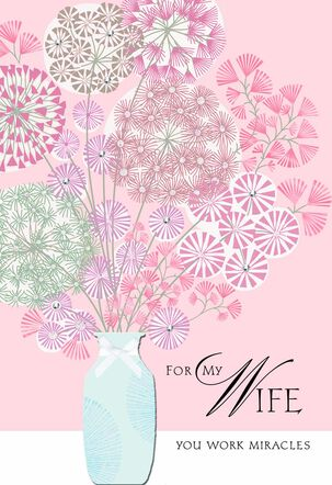 Vase of Flowers Anniversary Card For Wife