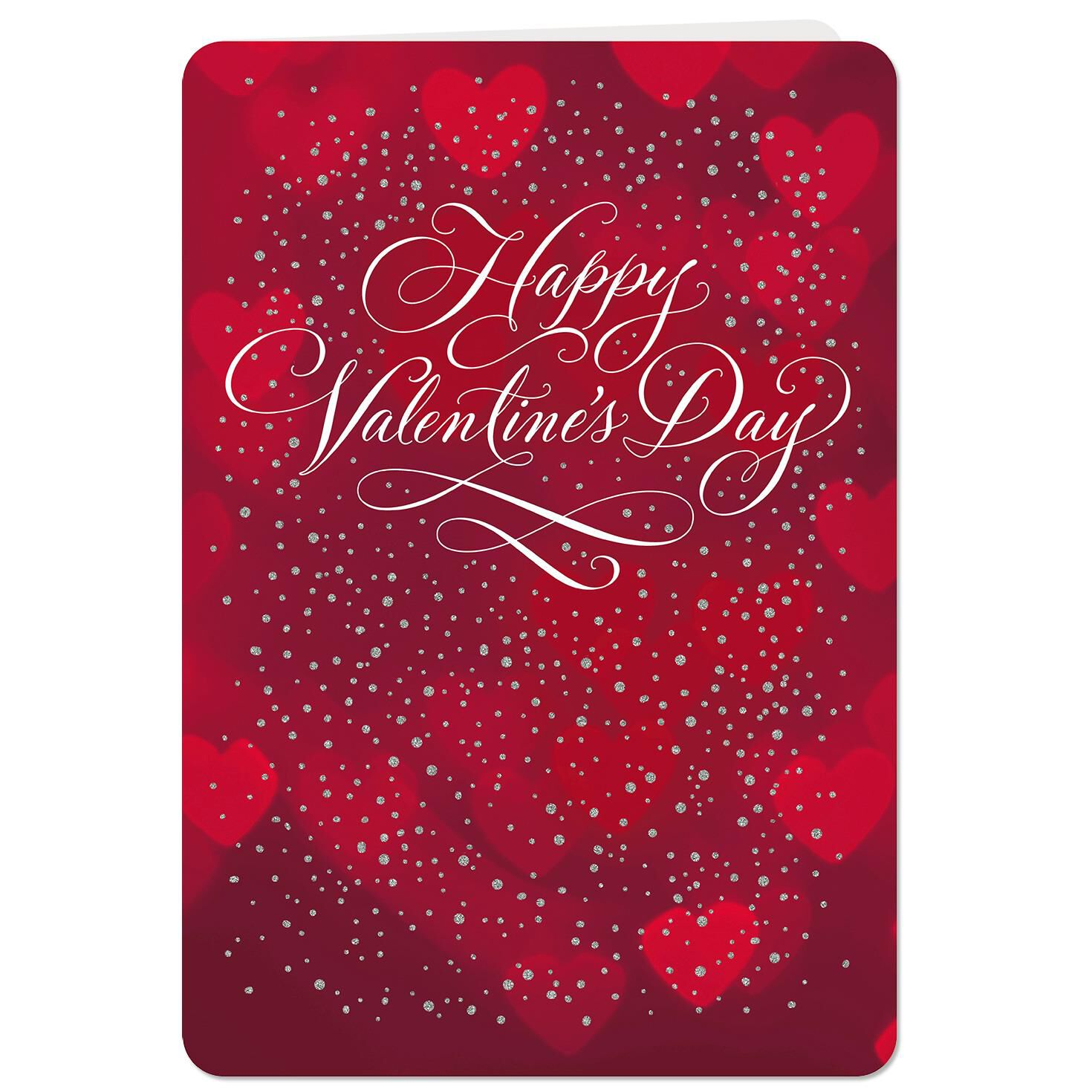With All My Heart Jumbo Valentines Day Card 1925 Greeting