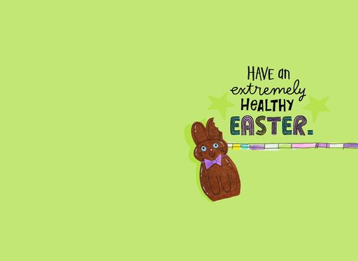Chocolate Bunny Funny Easter Card for Anyone,