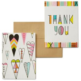 Hearts and Letters Thank You Notes, Pack of 8, , large