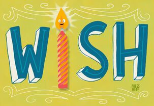 Wish Candle Musical Birthday Card With Motion