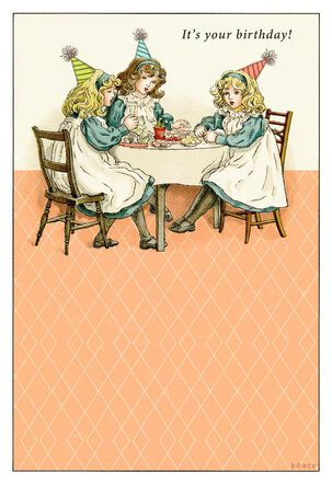 Tea Party Bitches Funny Birthday Card