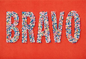 Bravo Sprinkles French-Language Congratulations Card