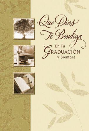 May God Bless You Spanish-Langugage Graduation Card