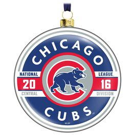 MLB Chicago Cubs™ Glass Ornament, , large