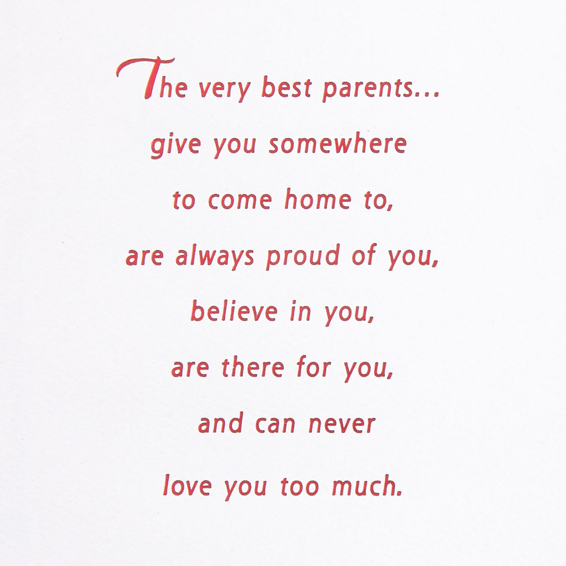 The Very Best Parents Christmas Card For Mom And Dad Greeting Cards Hallmark