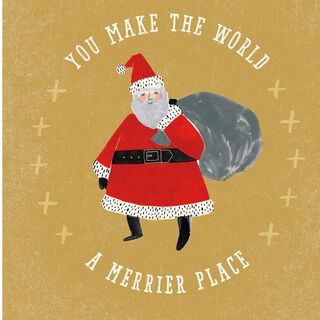 You Make the World Merrier Musical Christmas Card,
