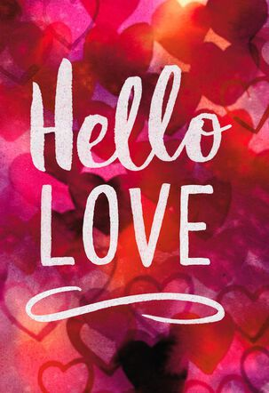 Jill Scott Hello Love Romantic Valentine's Day Card