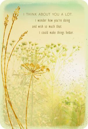 A Wish for Sunnier Days Ahead Thinking of You Card