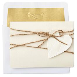 Heart and Twine Blank Cards, Box of 8, , large