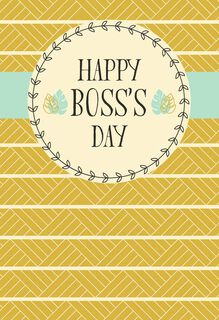You Inspire Me National Boss's Day Card,