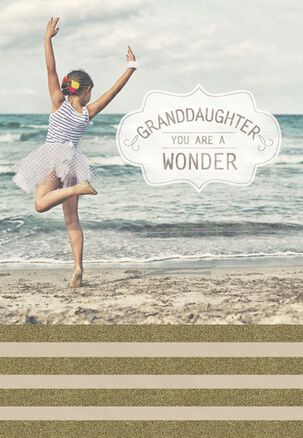 Granddaughter You Are a Wonder Birthday Card