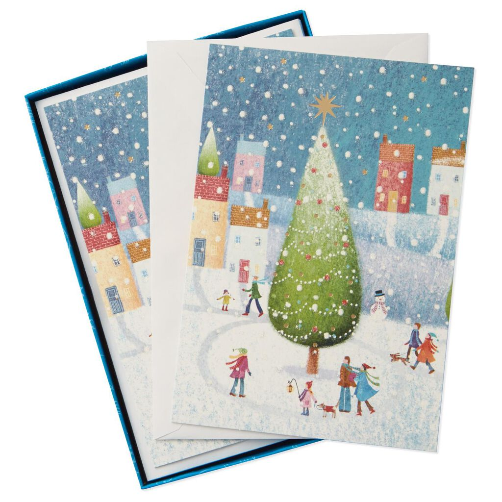 UNICEF Town Tree Christmas Cards, Box of 12 - Boxed Cards - Hallmark