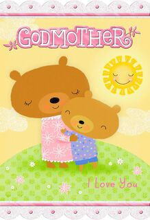 Hugging Bears for Godmother Mother's Day Card,