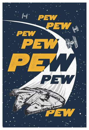 Star Wars™ Pew Pew Blank Just Because Card