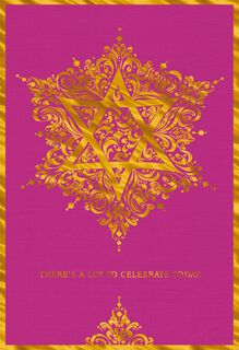 Golden Star of David Bat Mitzvah Money Holder Card,