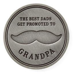 Best Dads Become Grandpas Collectible Token, , large