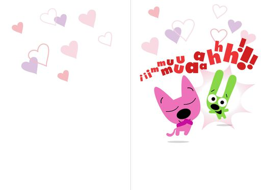 hoops&yoyo™ Smooch Spanish-Language Valentine's Day Card With Sound,