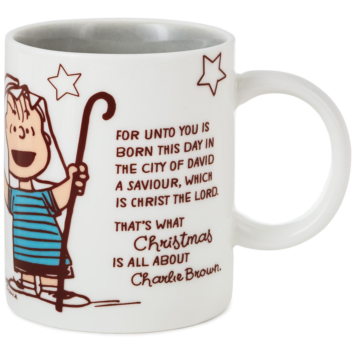 peanuts linus christmas speech mug mugs teacups hallmark