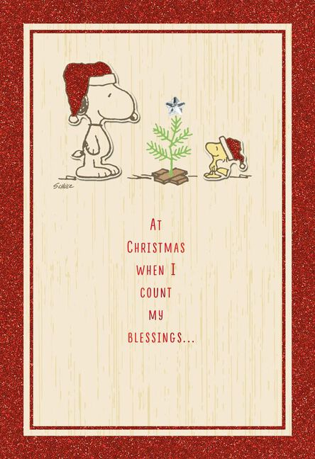 peanuts very special christmas card for friend greeting cards