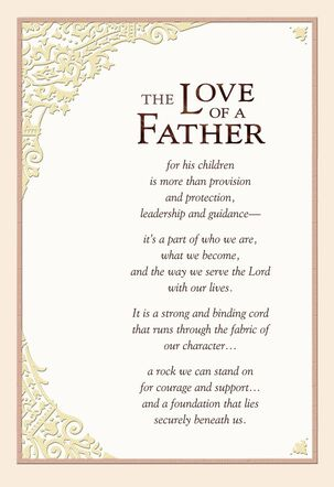 The Love of a Father Religious Father's Day Card