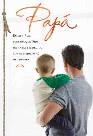 You're a Wonderful Father Religious Spanish-Language Father's Day Card for Dad