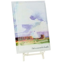 Clouds Over Clay Glass Plaque, , large