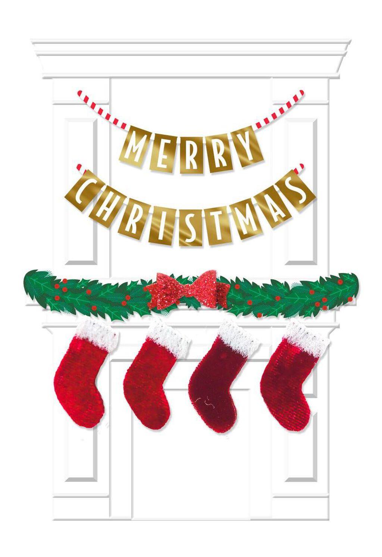 Mantel With Stockings Christmas Card - Greeting Cards - Hallmark