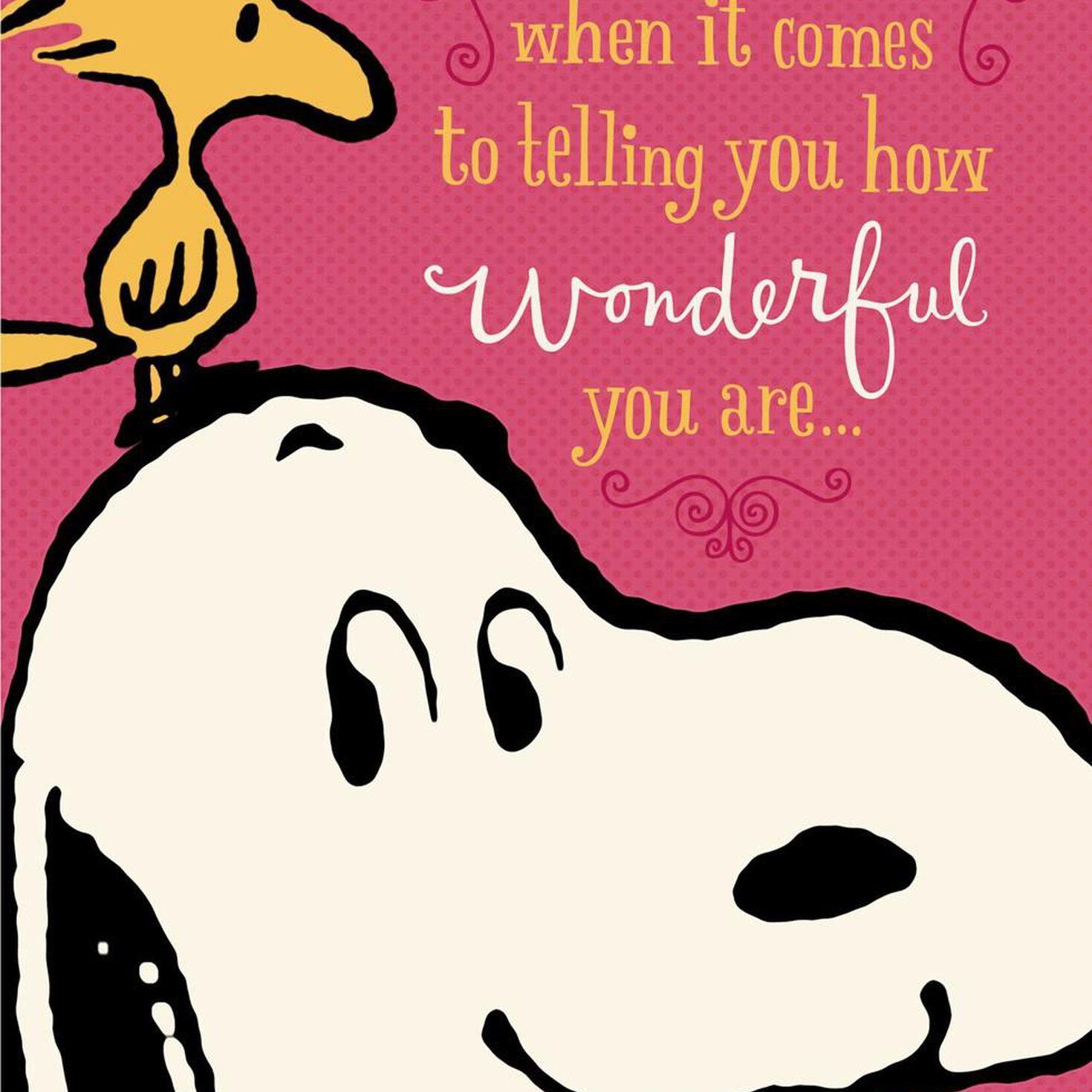 Peanuts® You're Wonderful, Grandma Birthday Card ...  Peanuts® You&#...