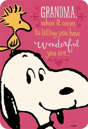 Peanuts® You're Wonderful, Grandma Birthday Card