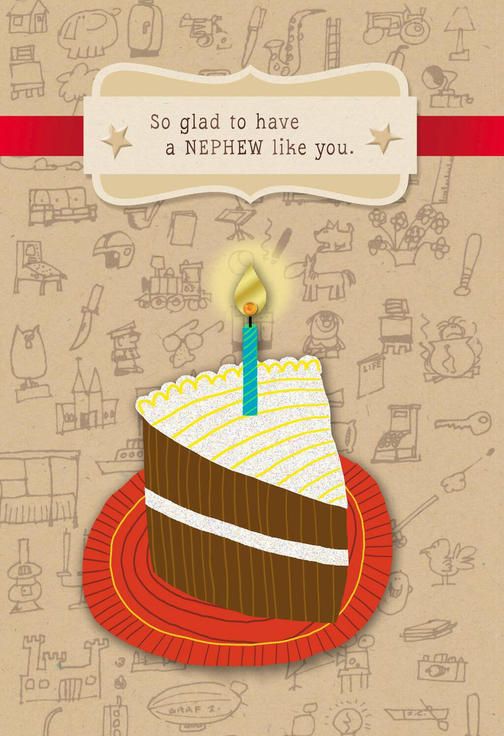 Slice Of Cake Birthday Card For Nephew Greeting Cards Hallmark