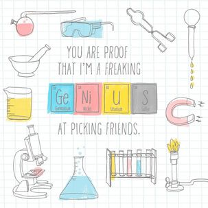 Genius Science Lab Friendship Card